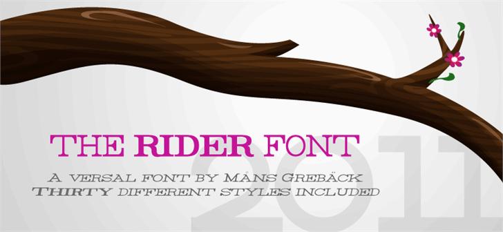 Rider font by Måns Grebäck