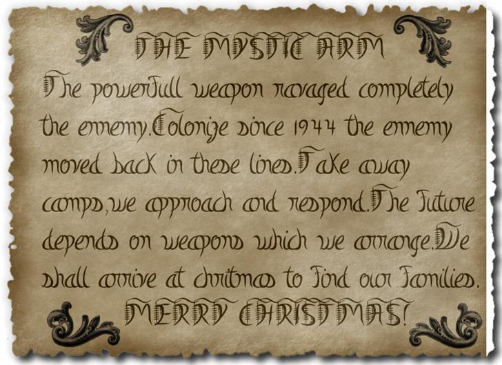 Mystic-Arm font by fontden