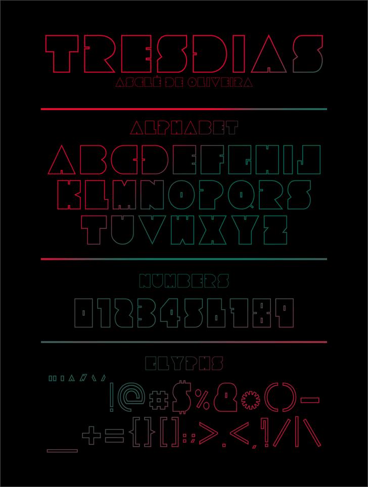 Tresdias font by Asclê de Oliveira