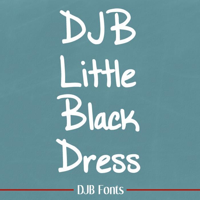 DJB Little Black Dress font by Darcy Baldwin Fonts