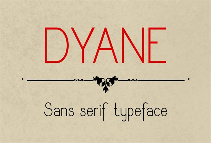 Dyane font by Eva Barabasne Olasz