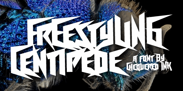 Freestyling Centipede font by Chequered Ink