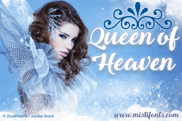 Queen of Heaven font by Misti's Fonts