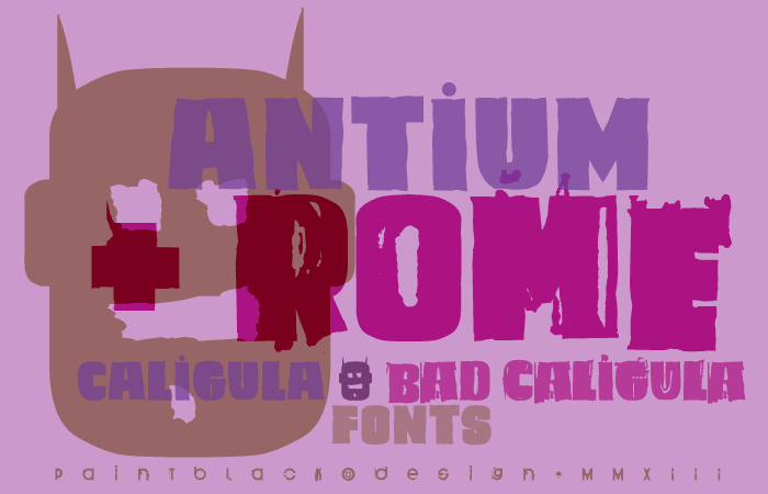 Caligula font by paintblack éditions