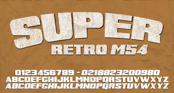 Super Retro M54 font by justme54s