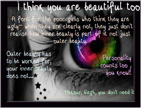 i think your beautiful too font by nicola