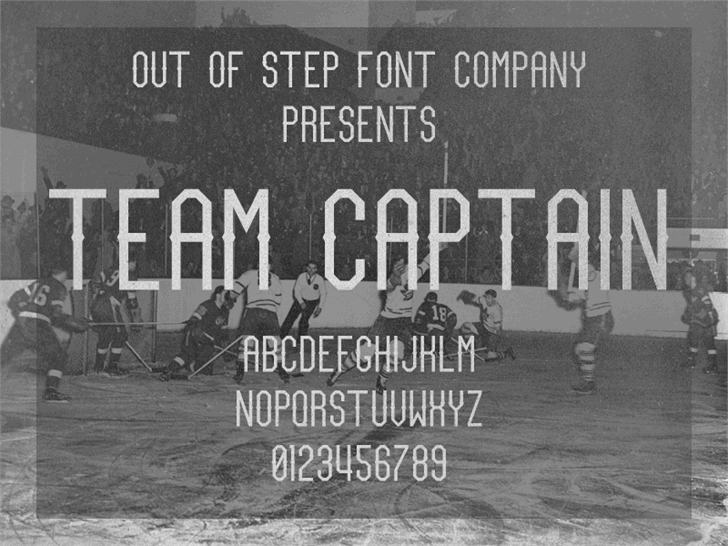 Team Captain font by Out Of Step Font Company