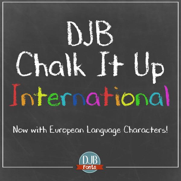 DJB CHALK IT UP font by Darcy Baldwin Fonts