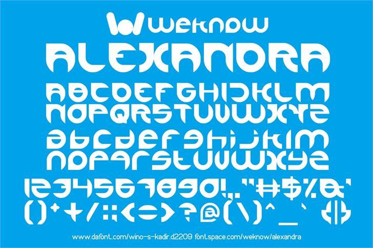 alexandra font by weknow