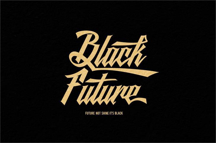 Black Future font by seventhimperium
