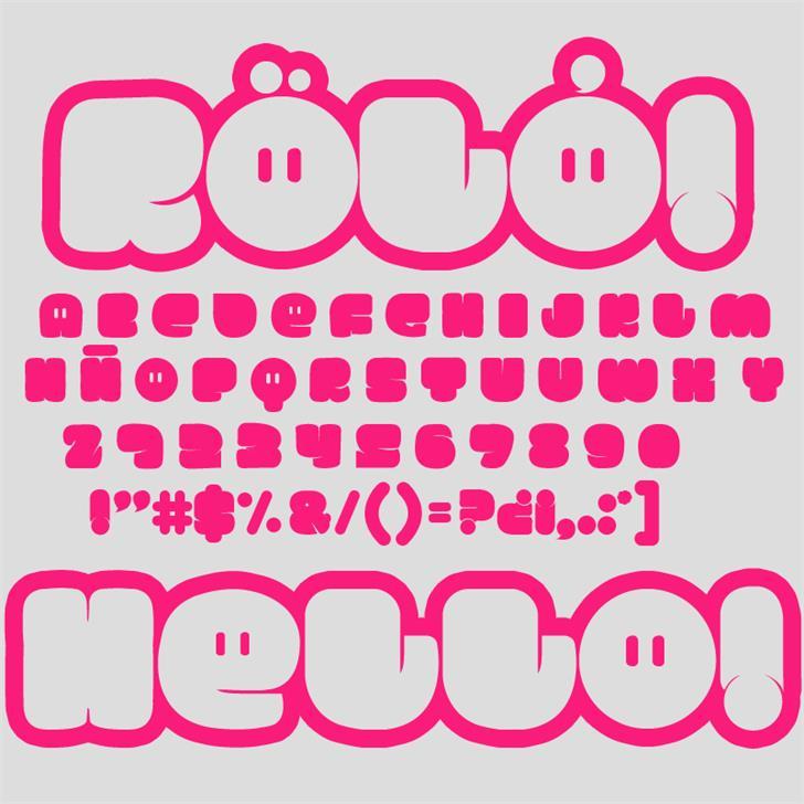 RÖLÓ! font by RASDESIGN