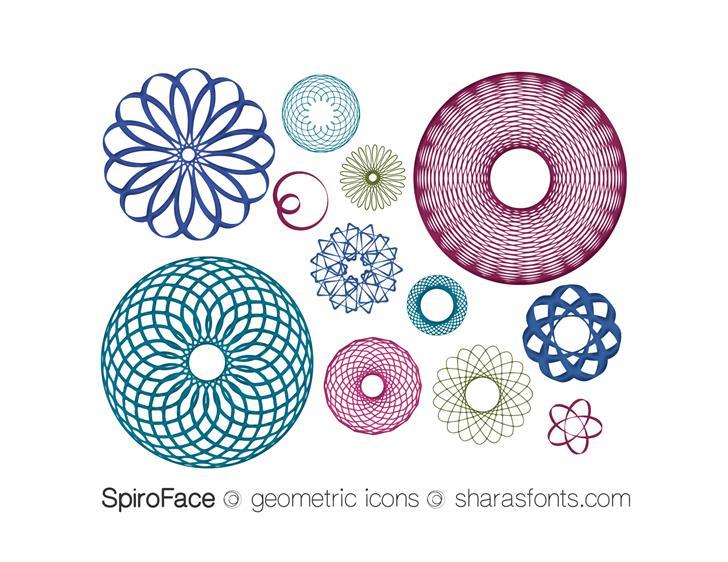 SpiroFace font by Shara Weber