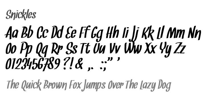 Snickles font by Tup Wanders