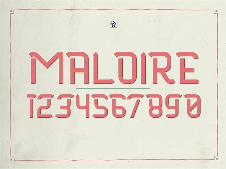 Maloire font by Paulo R