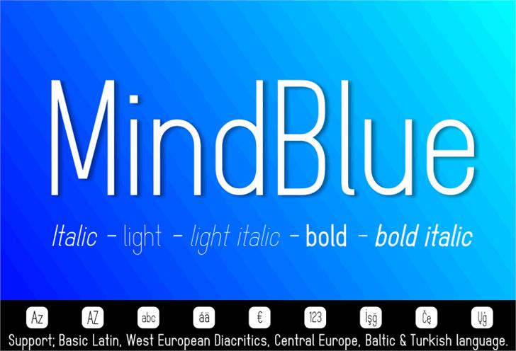 MindBlue font by studiotypo