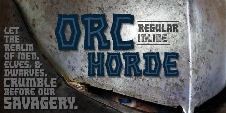 Orc Horde BB font by Blambot