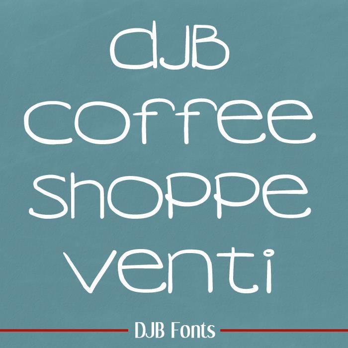 DJB COFFEE SHOPPE VENTI font by Darcy Baldwin Fonts