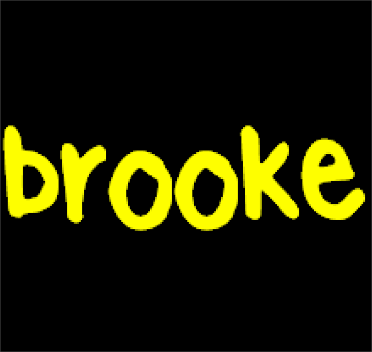 BrookeShappell10 font by brooke