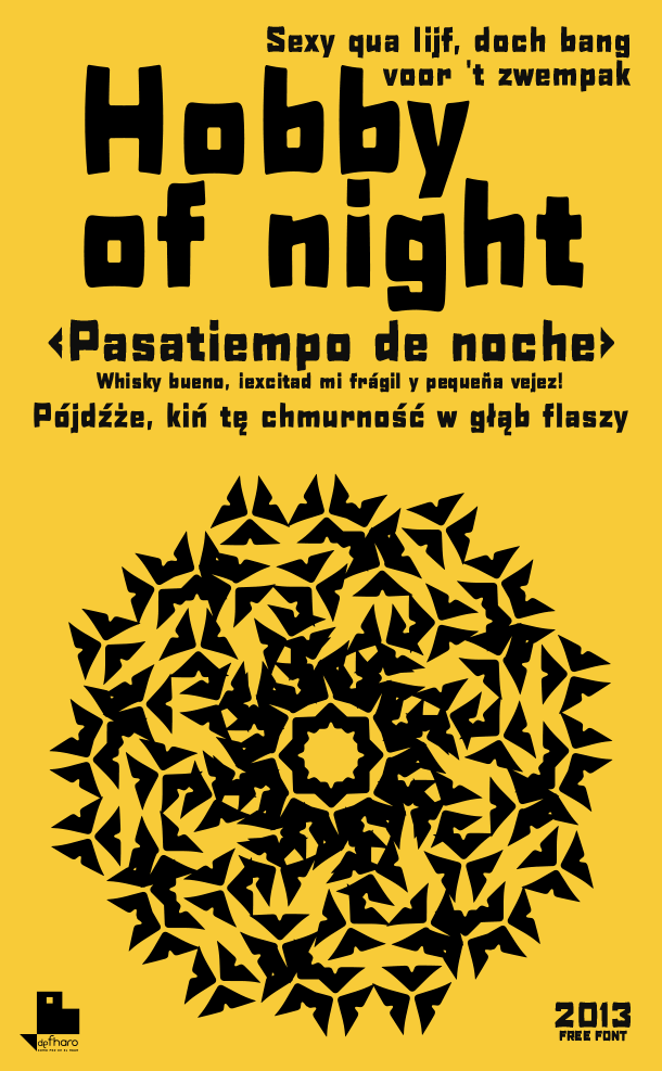 H0bby of night font by deFharo