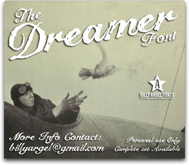 The Dreamer font by Billy Argel