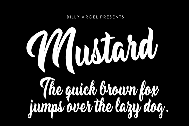 Mustard Personal Use font by Billy Argel