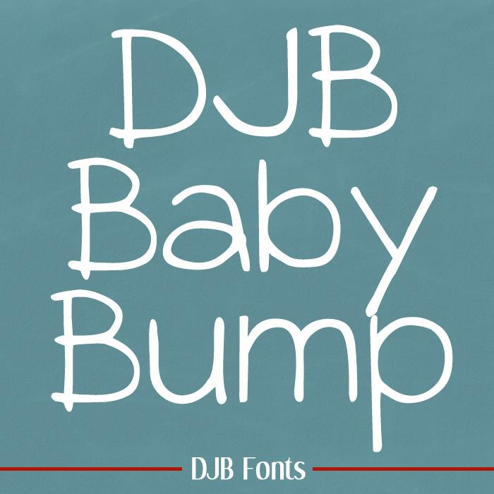 DJB BABY BUMP font by Darcy Baldwin Fonts
