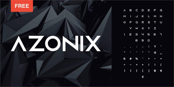 Azonix font by mixofx