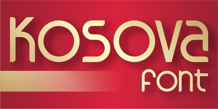 Kosova font by Adolfo