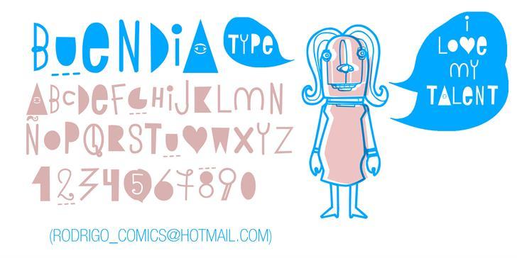 BUEN DIA font by RASDESIGN