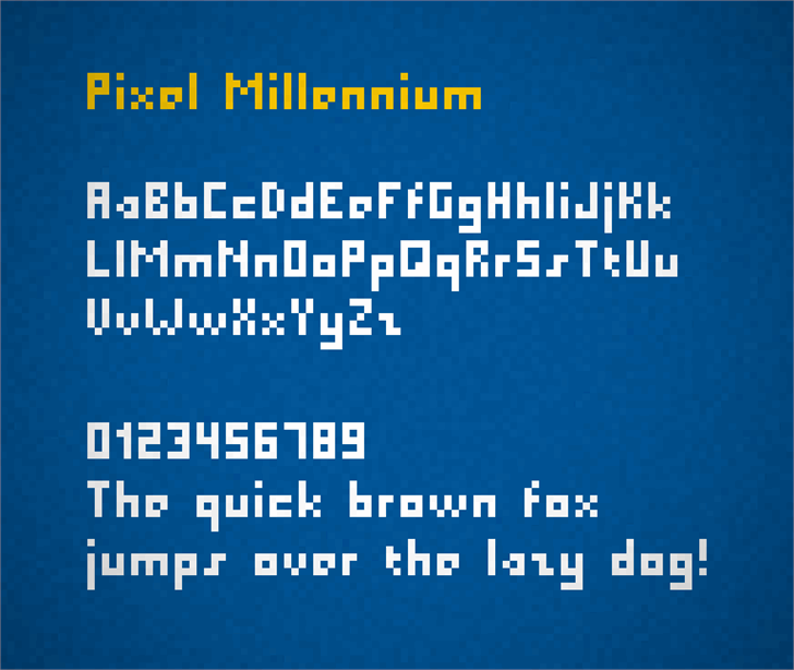 Pixel Millennium font by Zdeněk Gromnica
