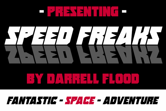 Speed Freaks font by Darrell Flood