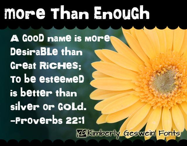 More than Enough font by Kimberly Geswein