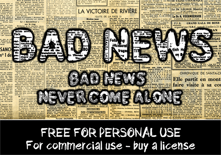 CF Bad News font by CloutierFontes