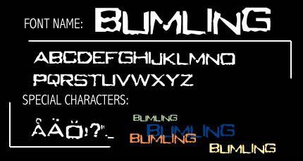Bumling font by MillaN