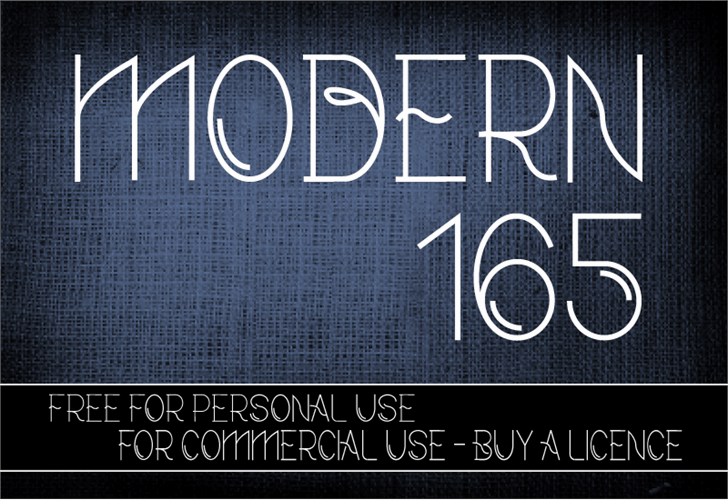 CF Modern 165 font by CloutierFontes