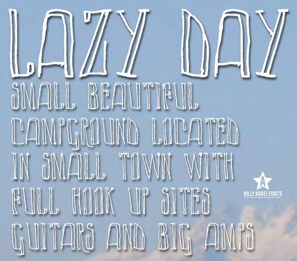 LAZY DAY font by Billy Argel