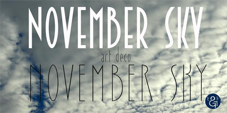 November Sky Demo font by Roland Huse Design
