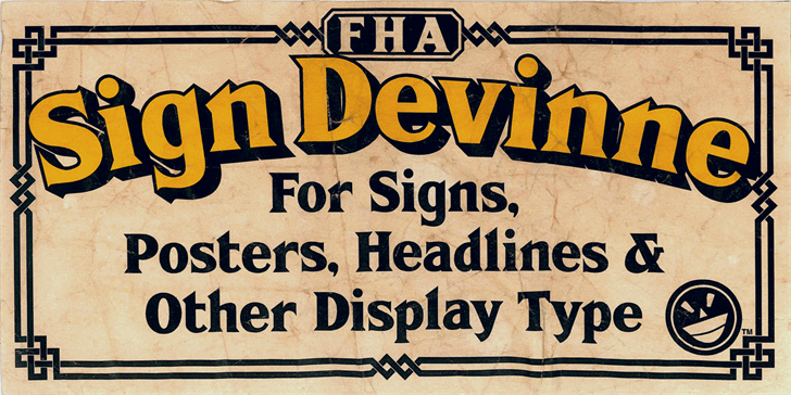 FHA Sign DeVinneNC font by the Fontry