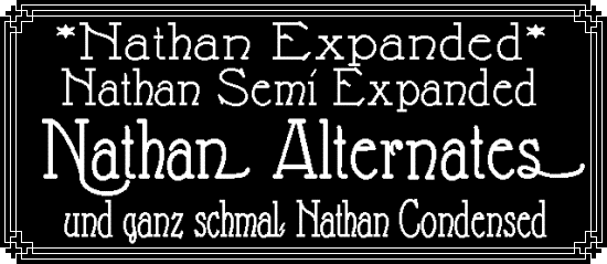 Nathan font by Peter Wiegel