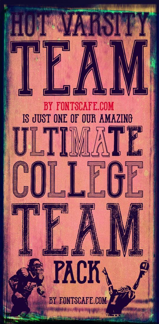 Hot Varsity Team DEMO font by FontsCafe