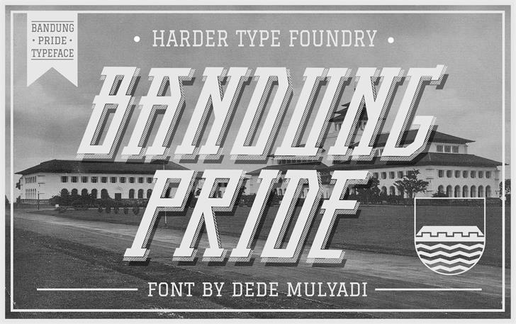 Bandung Pride font by Harder Type Foundry