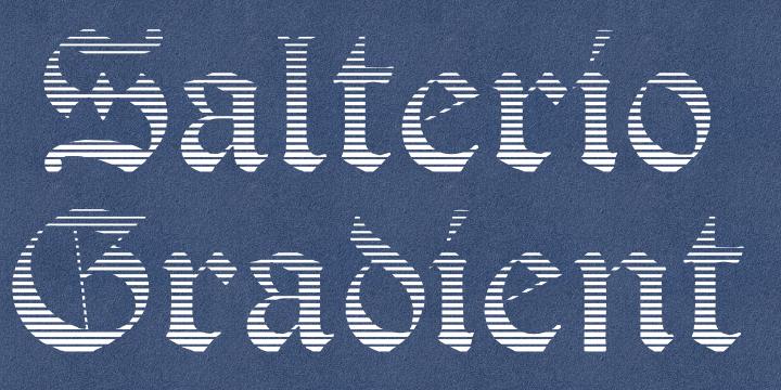 Salterio Gradient font by Intellecta Design