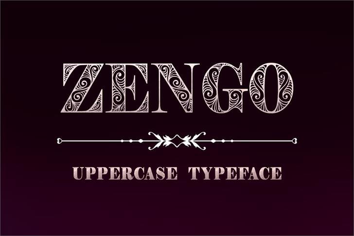 Zengo font by Eva Barabasne Olasz