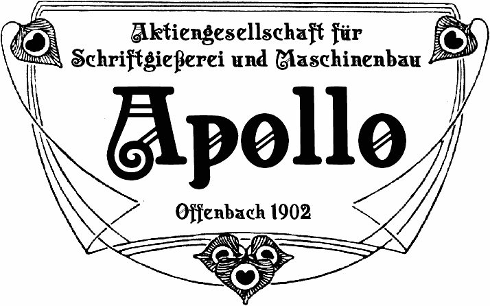 Apollo ASM font by Peter Wiegel