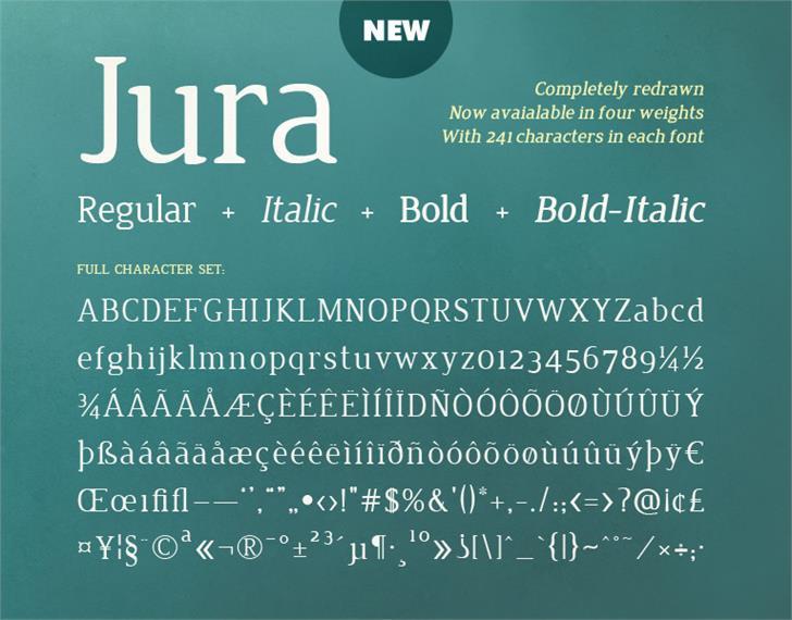 Jura font by Ten by Twenty