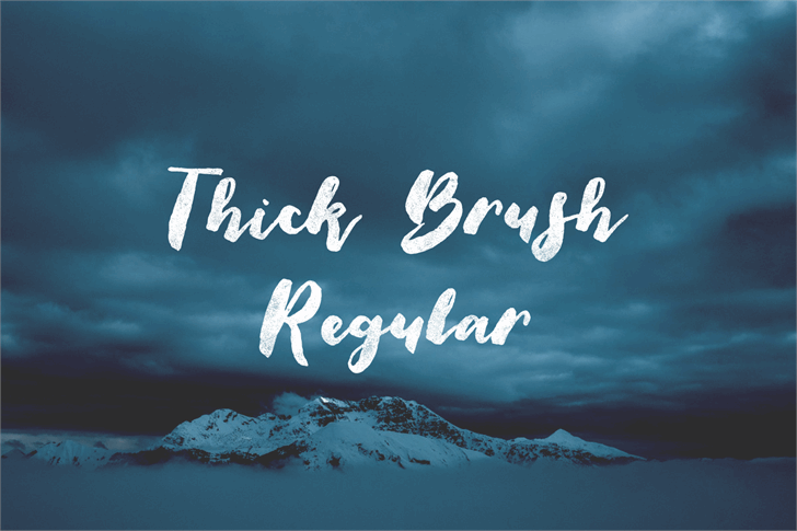 Thick Brush Demo font by Out Of Step Font Company