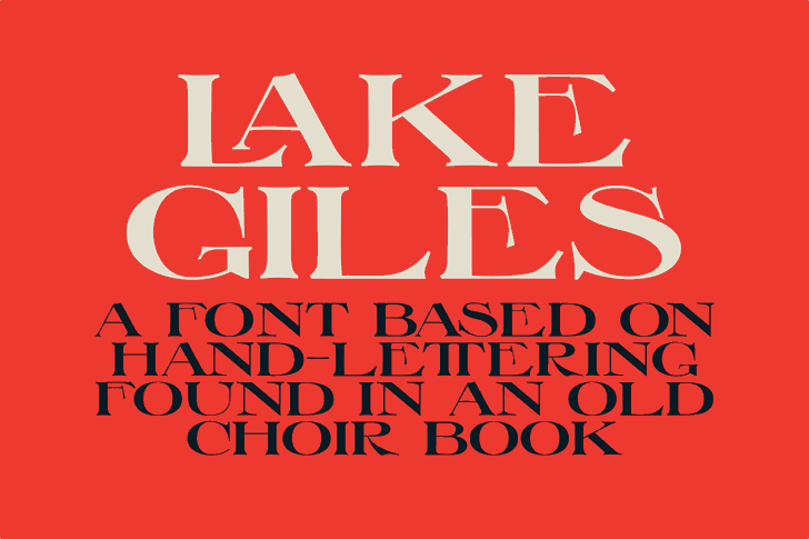 Lake Giles font by Skyhaven Fonts