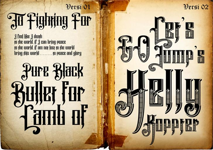 Pure Black Demo font by VMF font