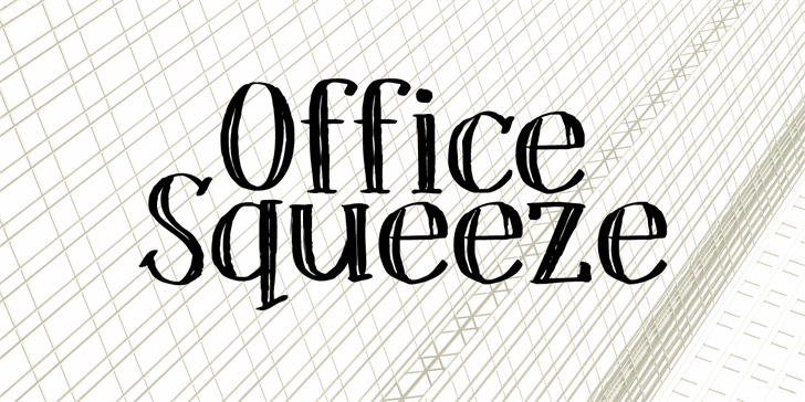 DK Office Squeeze font by David Kerkhoff
