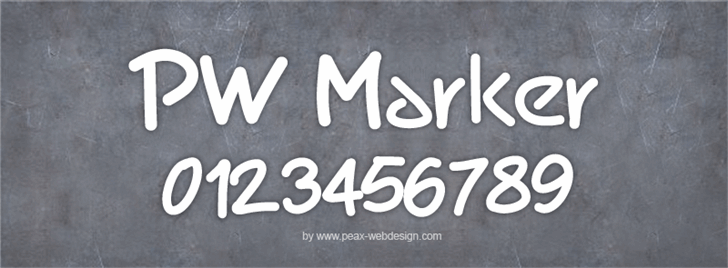 PWMarker font by Peax Webdesign